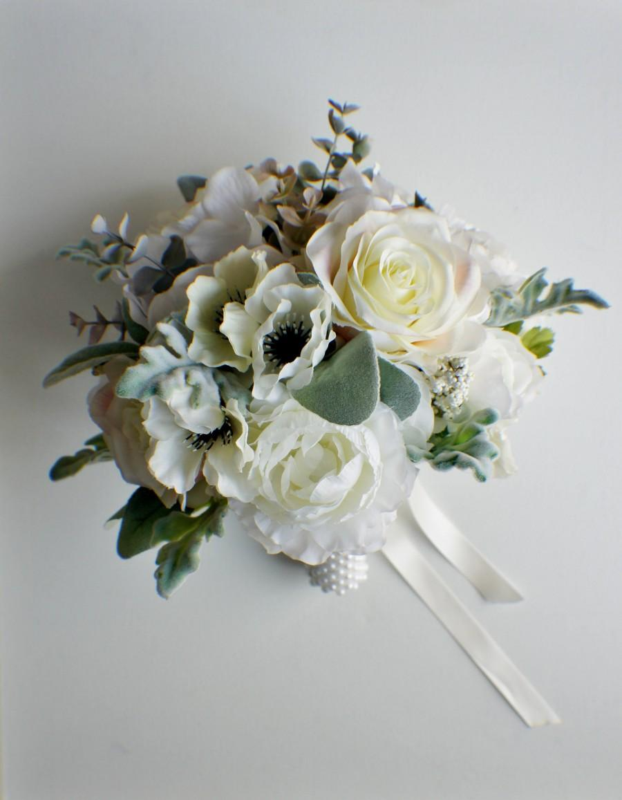زفاف - Bridal Bouquet, Wedding Bouquet, Ivory and Sage Bouquet, Wedding Floral, Wedding Flowers, Bridal Bouquet, Brides Bouquet, Bridesmaid Bouquet
