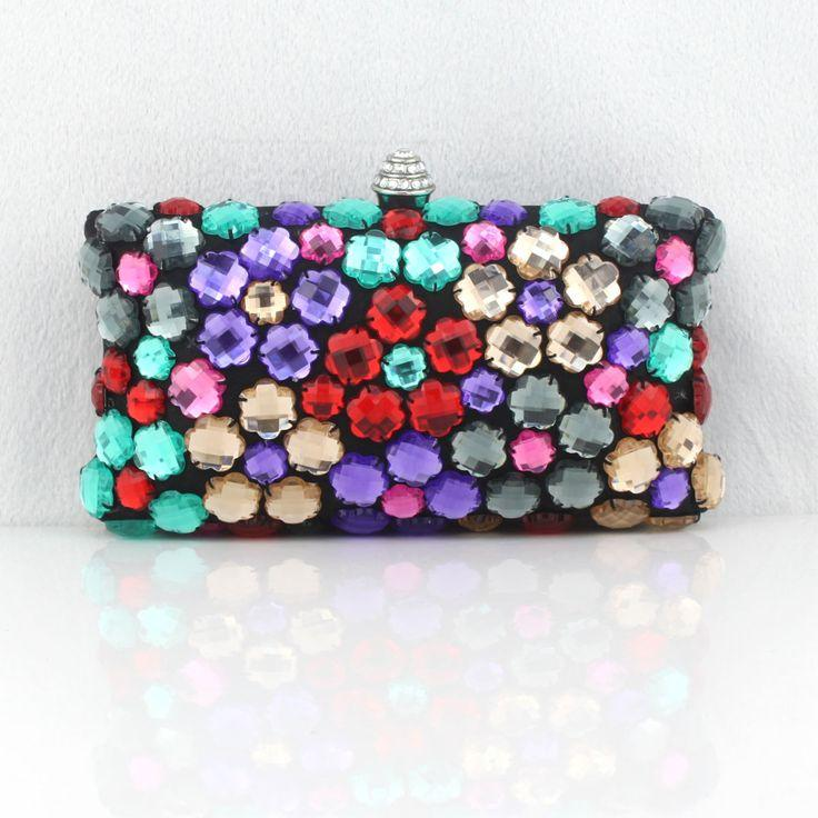Hochzeit - $37.89 Dresswe.com SUPPLIES Western Style Star Models Colorful Acrylic Diamond Evening Bag Banquet Bag