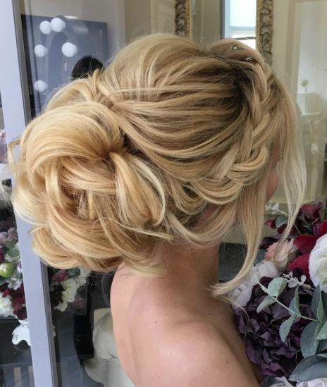 Hair Side Braided Loose Bun Wedding Hairstyle 2775801 Weddbook