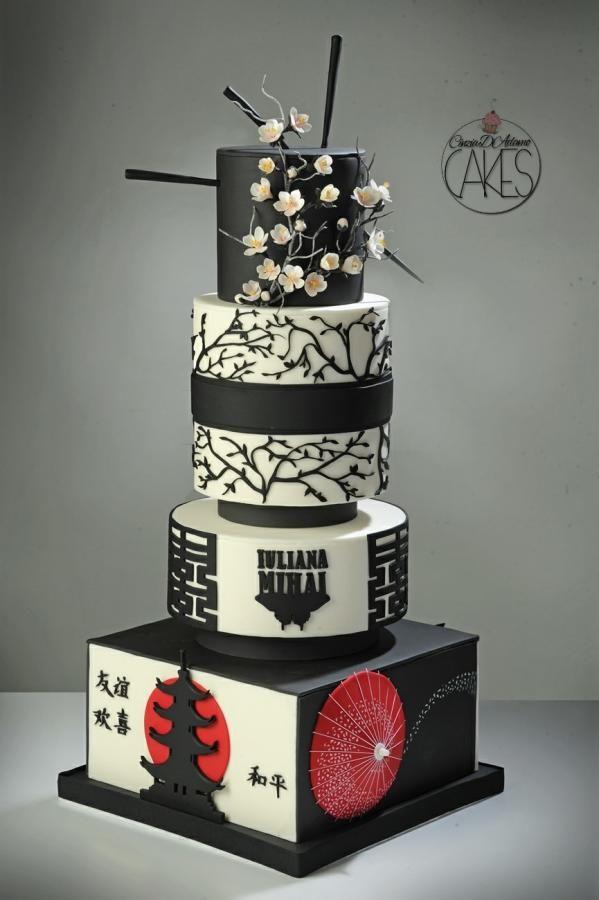 زفاف - Japan Themed Cake