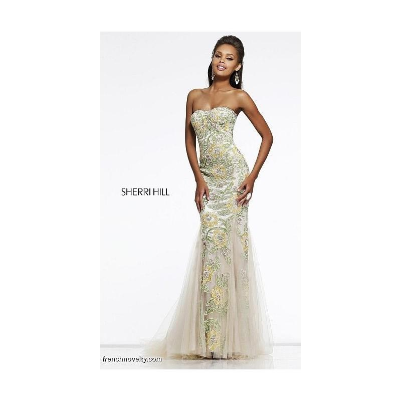 Wedding - Sherri Hill 1709 Floral Mermaid Dress - Brand Prom Dresses