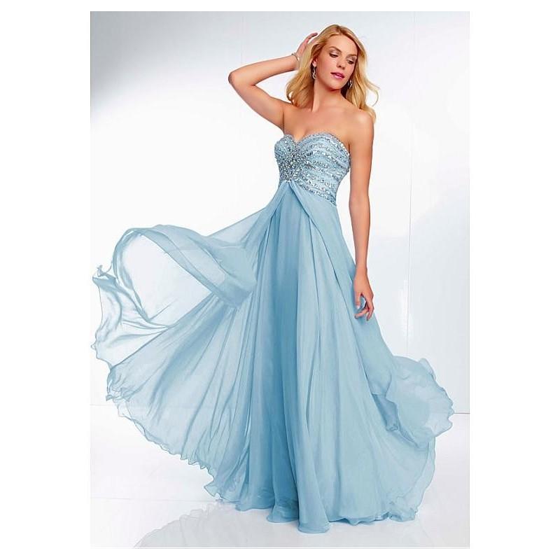 Mariage - Chic Chiffon Sweetheart Neckline Floor-length A-line Prom Dress - overpinks.com