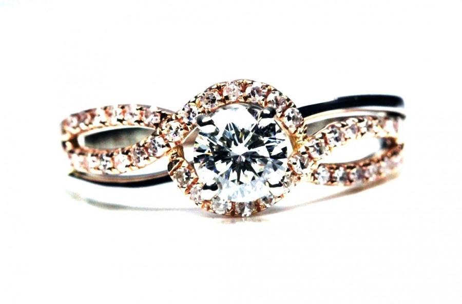 زفاف - Unique Engagement Ring - Two Tone - GIA Diamond