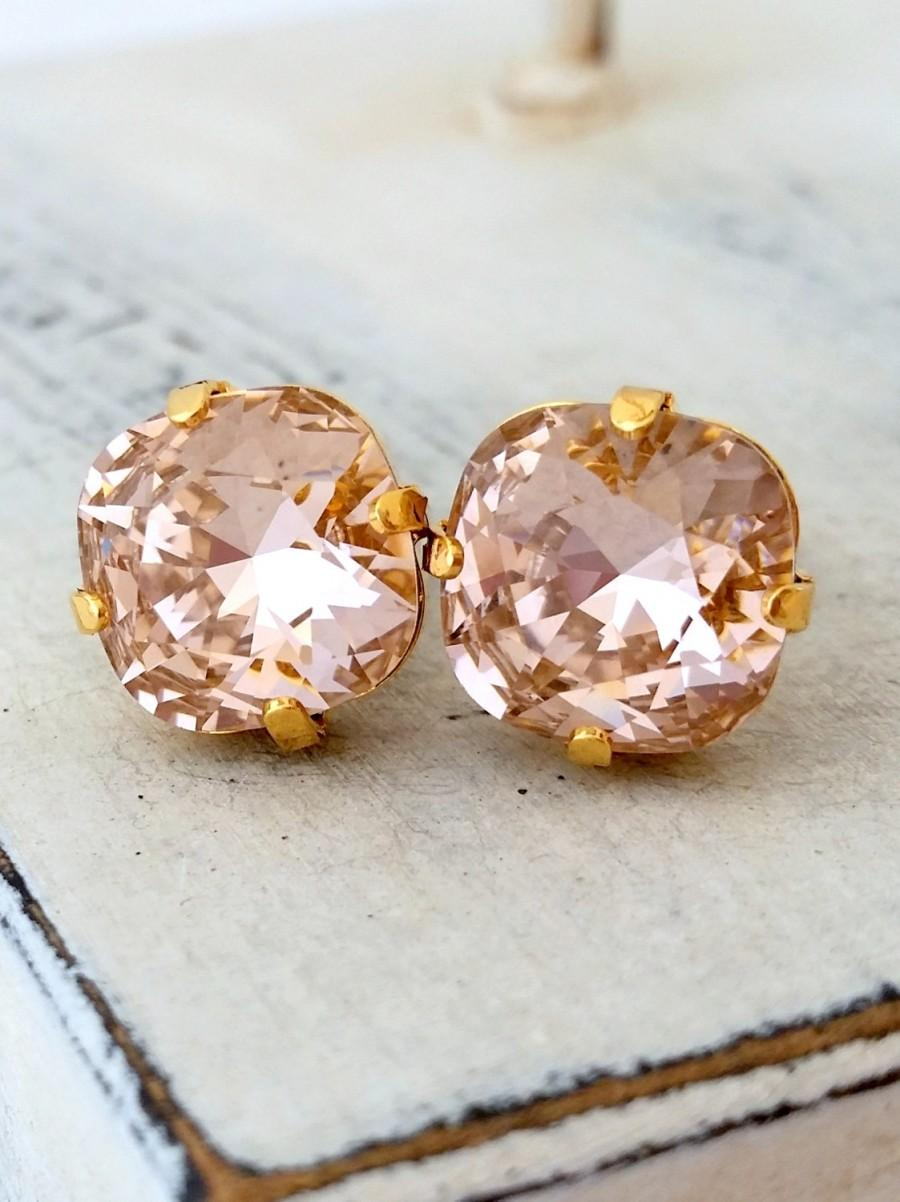 earrings and morganite p rose halo diamond stud large context gold