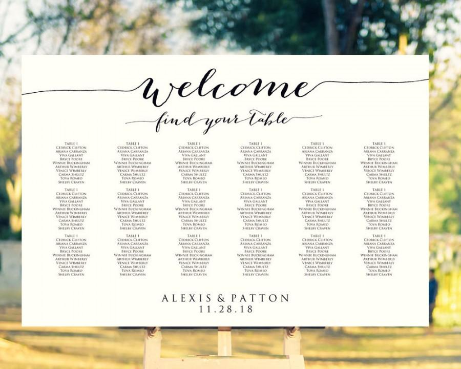 instant download printable seating chart poster template