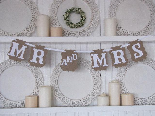 زفاف - MR and MRS Wedding Banner, Mr and Mrs Wedding Sign, Wedding Decoration, Wedding Chair Signs, Vintage Wedding, Thank You Photo Card