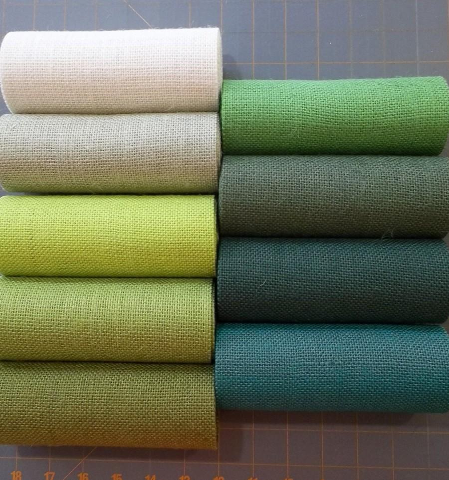 زفاف - 10 inch GREEN Burlap ribbon x 3 yards - 11 shades available