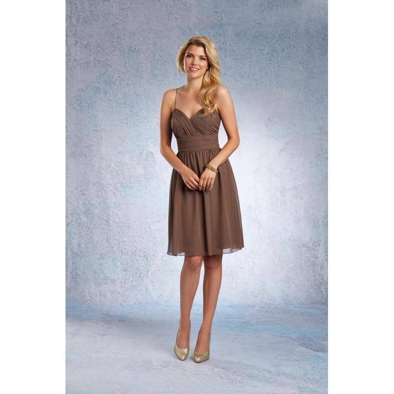 Wedding - Alfred Angelo 7323S Short Spaghetti Strap Chiffon Bridesmaid Dress - Crazy Sale Bridal Dresses