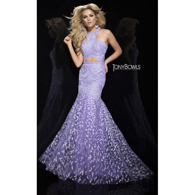 Mariage - Tony Bowls Collection TB117390 Purple,Black Dress - The Unique Prom Store