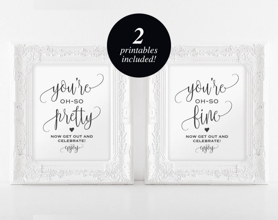 Boda - Wedding Bathroom Signs, Wedding Sign, Wedding Printable, Bathroom Printable, Look oh so, PDF Instant Download #BPB203_63