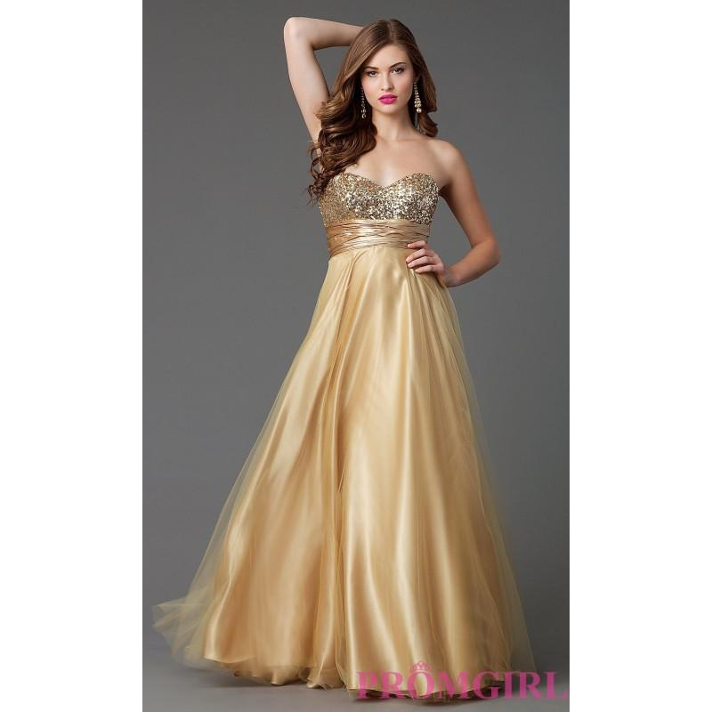 Свадьба - Full Length Strapless Formal Gown - Brand Prom Dresses