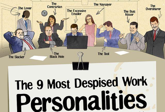 Wedding - The 9 Most Despised Work Personalities [Infographic]