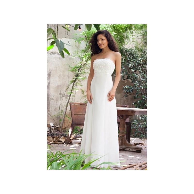 Mariage - Vestido de novia de Estanislao Modelo Confetti-frontal-02 - 2016 Evasé Palabra de honor Vestido - Tienda nupcial con estilo del cordón