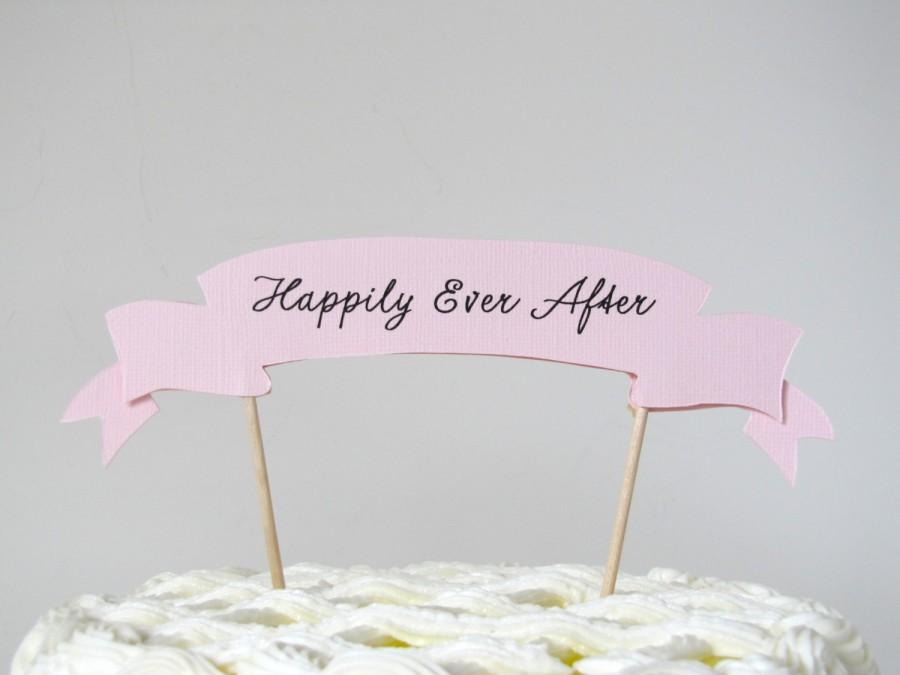 Hochzeit - Happily Ever After Cake Topper wedding cake topper, paper cake topper