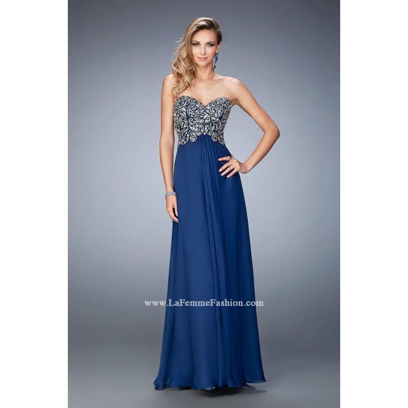 Свадьба - Navy Le Femme Gigi Prom Gowns Long Island GiGi by La Femme 22420 GiGi Designs by La Femme - Top Design Dress Online Shop