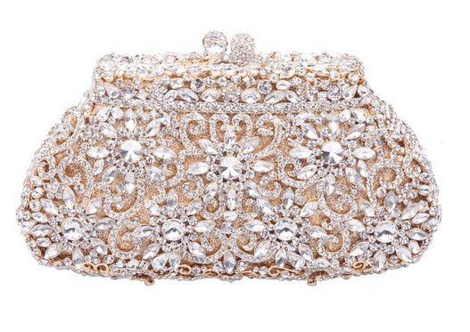 Hochzeit - 'Crystal' Flower Clutch