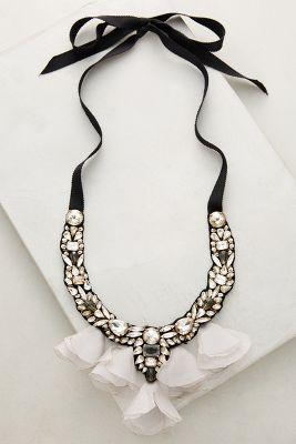 Свадьба - Midnight Tulle Bib Necklace