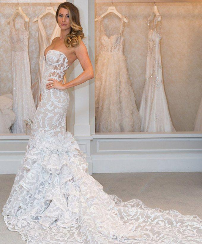 New Pnina Tornai Wedding Dresses: See A Real Bride Model 6 Hot-Off ...