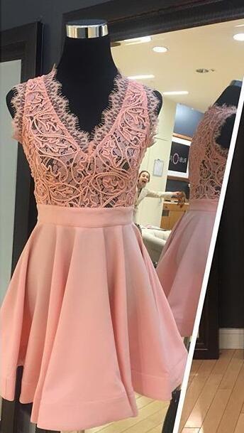 Wedding - Pink Lace Dress