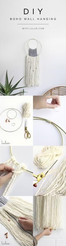 Wedding - DIY Boho Wall Hanging