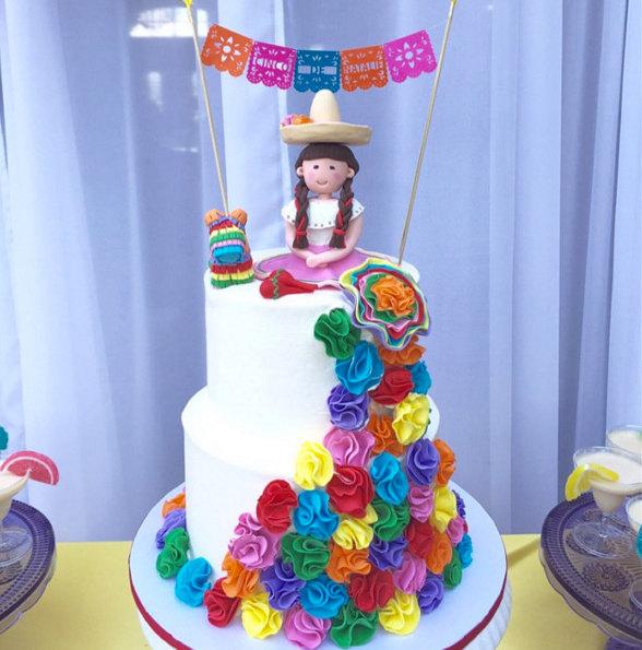 Свадьба - Custom Papel Picado Cake Topper