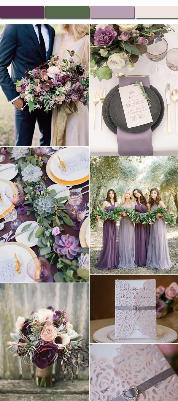 Wedding Color Palettes.Perfect 4 Fall Wedding Color Palettes And Matched Wedding