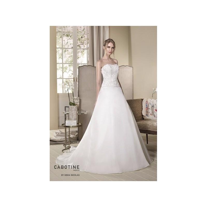 vestido de novia de cabotine modelo aster frente - 2017 princesa