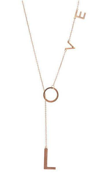 """Mariage - Lariat Necklace """"Love"""""""