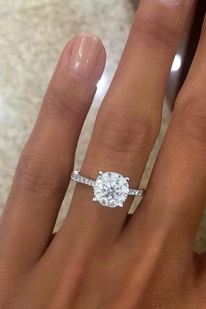 Свадьба - 24 Top Round Engagement Rings
