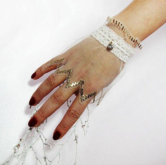 Свадьба - Fingerless Gloves