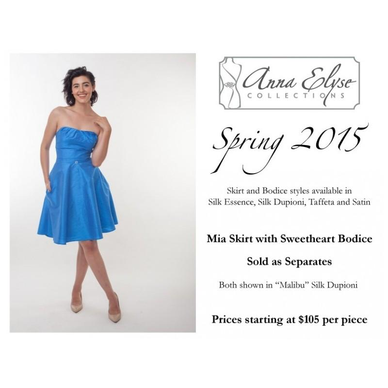 Свадьба - Anna Elyse Mia Skirt with Sweetheart Bodice -  Designer Wedding Dresses