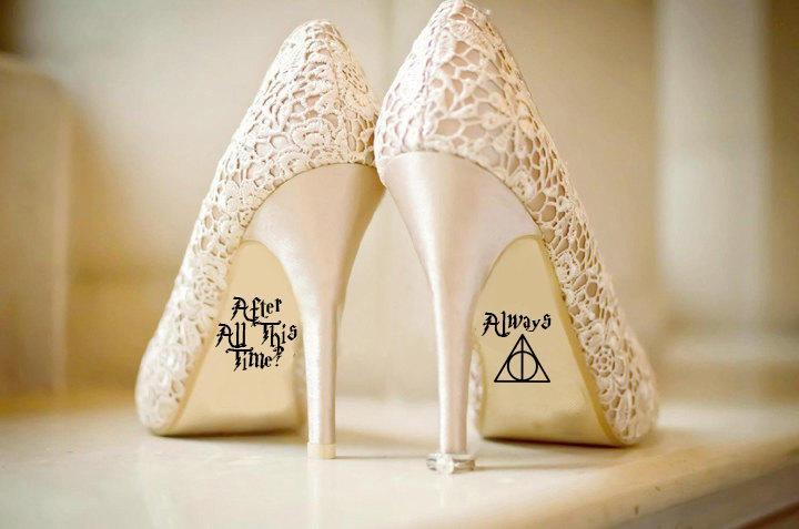 Disney Wedding Shoes | Personalised Harry Potter Disney Wedding Shoe Vinyl Sticker Decal