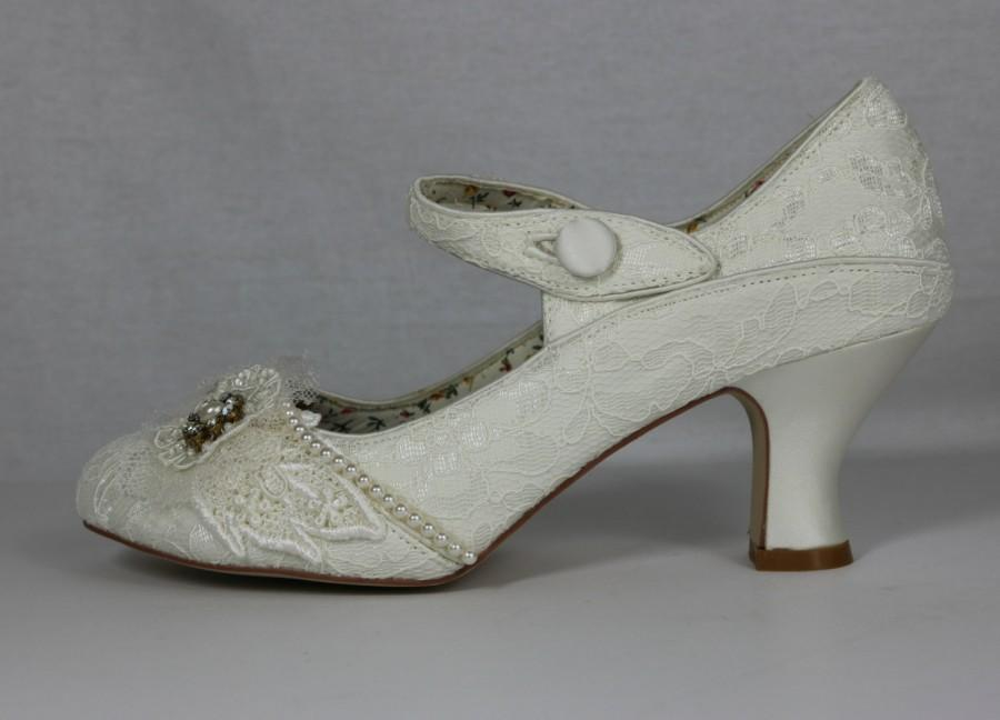 Lady Mary Ivory 1920s Wedding Shoes Gatsby Style Shoes