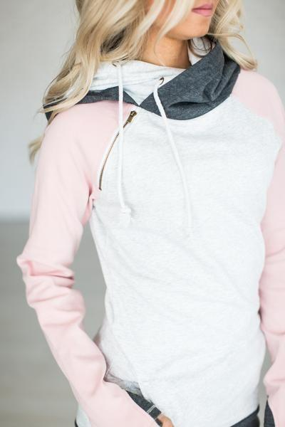 Hochzeit - Baseball DoubleHood™ Sweatshirt - Pink