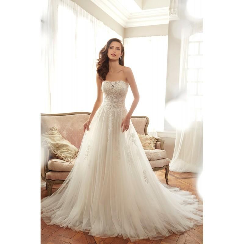 ef2121b3f0d3 Style Y11706 by Sophia Tolli - Ivory White Tulle Detachable Straps Floor  Strapless A-Line Princess Wedding Dresses - Bridesmaid Dress Online Shop