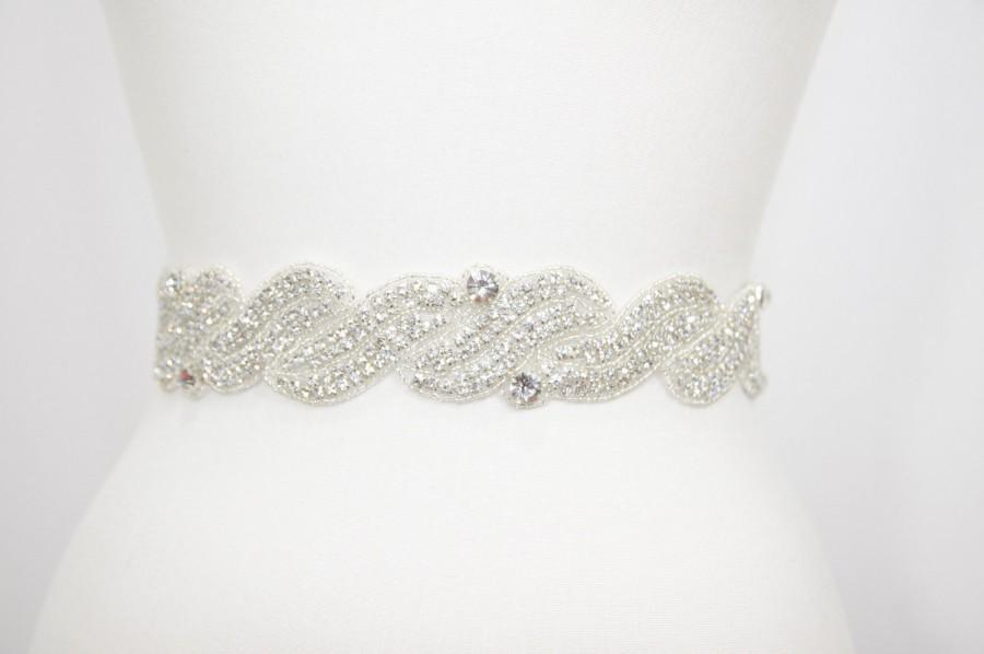 Boda - Beach wedding,Wedding belt,bridal accessories,bridal sash,wedding sash,dress belt,rhinestone belt,bridal belt,Vintage wedding,sash,prom,belt