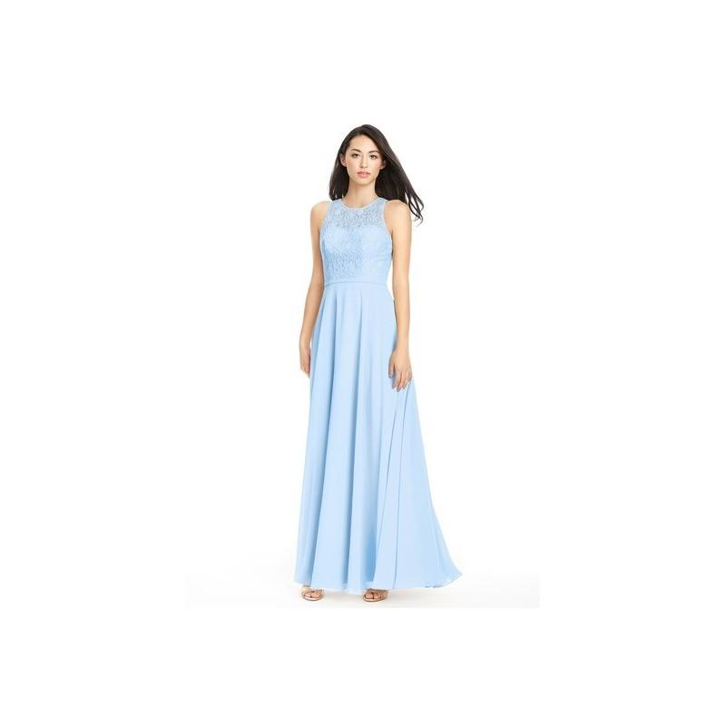 Mariage - Sky_blue Azazie Frederica - Keyhole Scoop Chiffon And Lace Floor Length Dress - Cheap Gorgeous Bridesmaids Store
