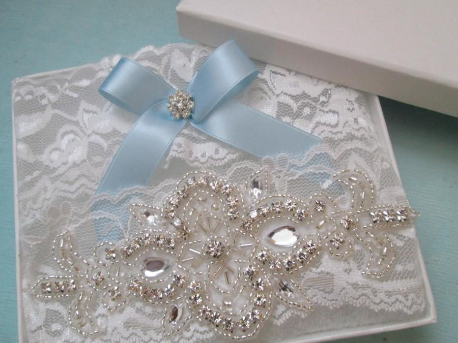 43ba7b695fe White Lace Wedding Garter Set