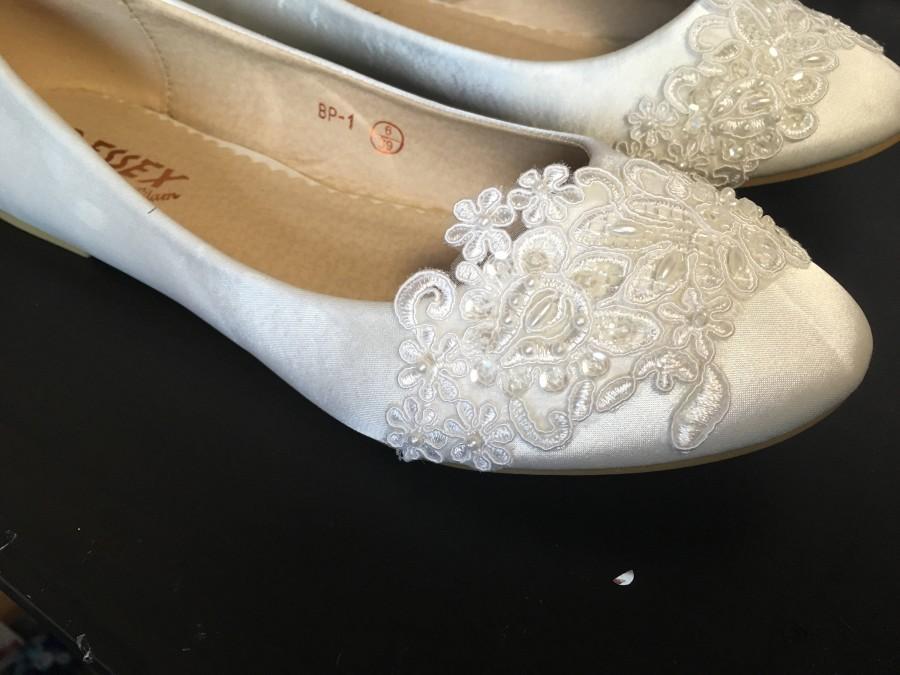Hochzeit - Ivory Cottonwood (bridal wedding flat shoes)