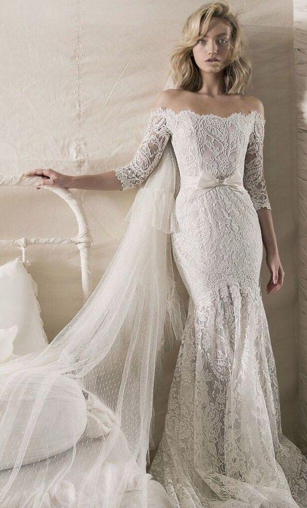 Wedding - Our Favorite Lace Wedding Dresses With Fashion-Forward Design Details