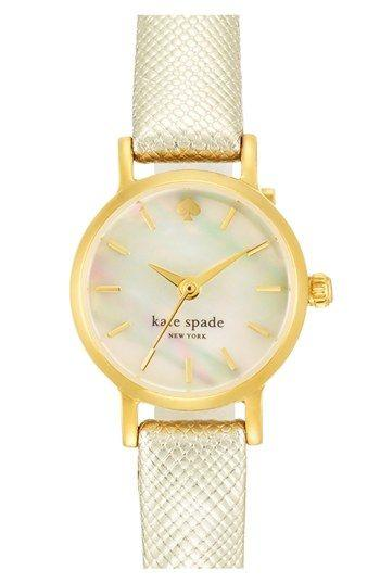 Boda - Women's Kate Spade New York 'tiny Metro' Leather Strap Watch, 20mm