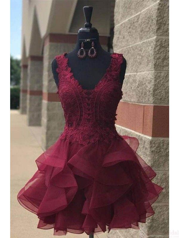 Mariage - Organza Lace Homecoming Dresses Short Party Dresses (ED2016)