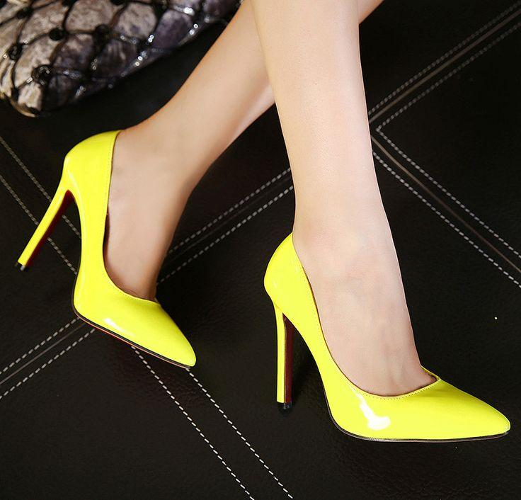 9f0a9e6bc178 Pumps High Heels Pointed Toe Women Shoes Red Bottom Sole  2779691 ...