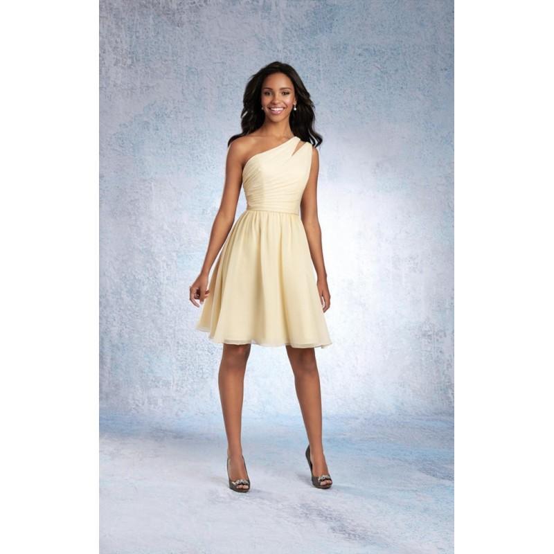 Свадьба - Alfred Angelo 7322S Short One Shoulder Chiffon Bridesmaid Dress - Crazy Sale Bridal Dresses