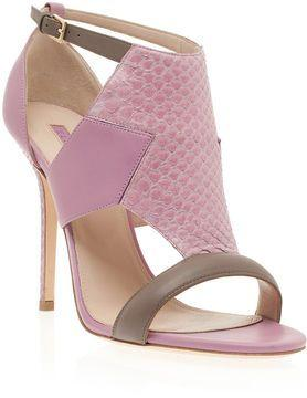 Wedding - Calfskin And Python Sandals