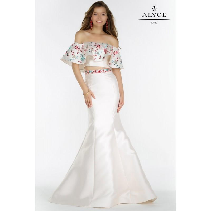 Wedding - White Alyce Prom 6836-17 Alyce Paris Prom - Rich Your Wedding Day