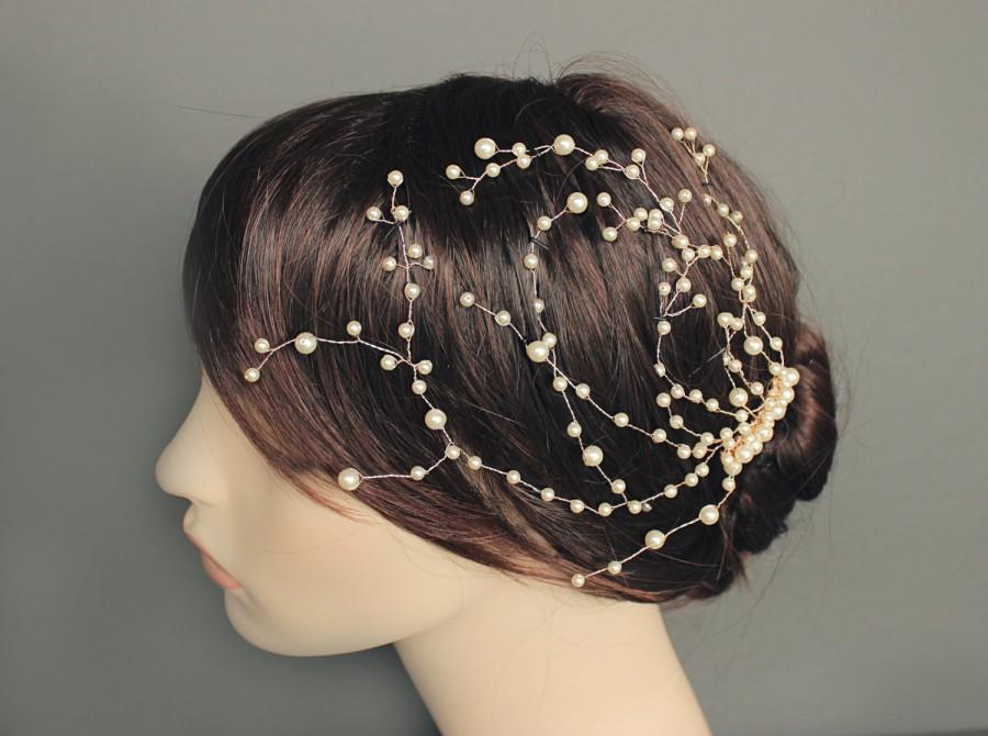 Boda - Bridal hair vine Pearl hair piece Wedding Hair Accessories Bridal comb Wedding headpiece Pearl comb Bridal beaded comb Bridesmaids hairpiece