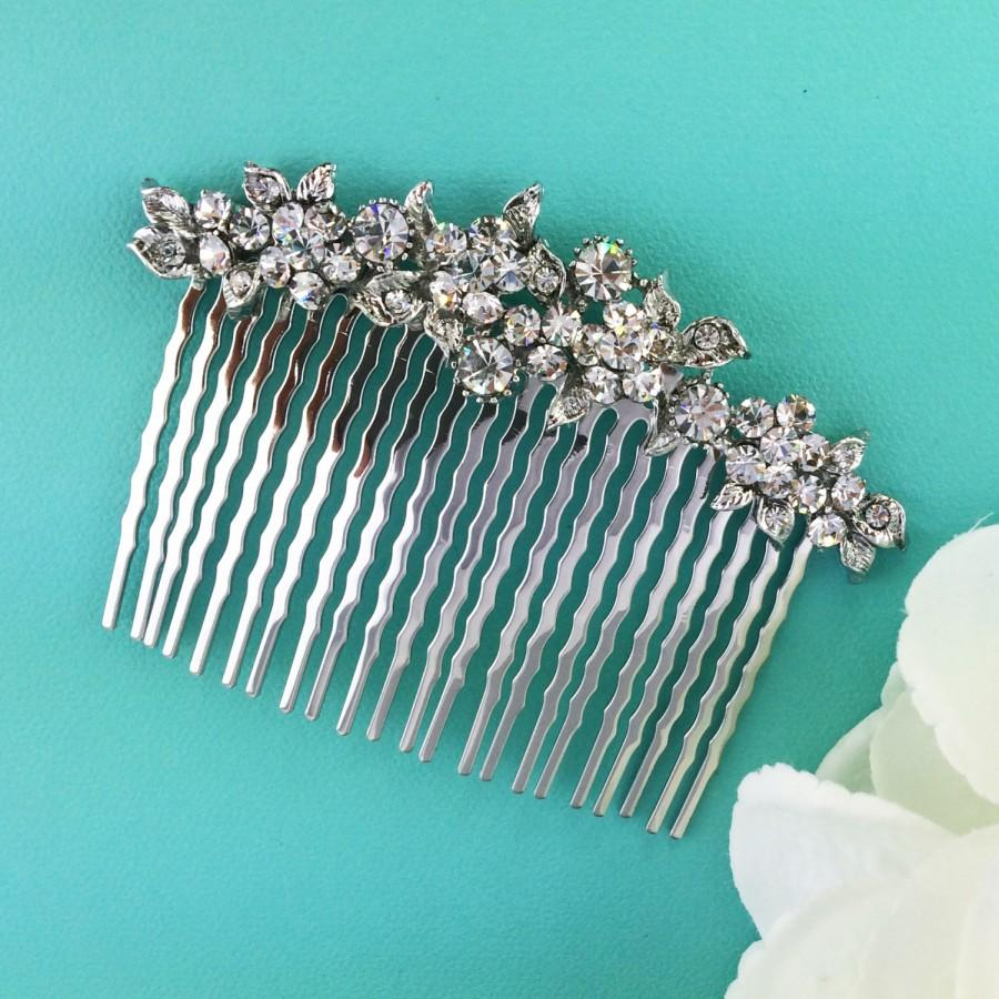 Wedding - Crystal Wedding Comb, Rhinestone Comb, Bridal Comb pearl, Wedding Crystal Hair Comb, Hair Comb, Wedding Accessory, headpiece 253605671