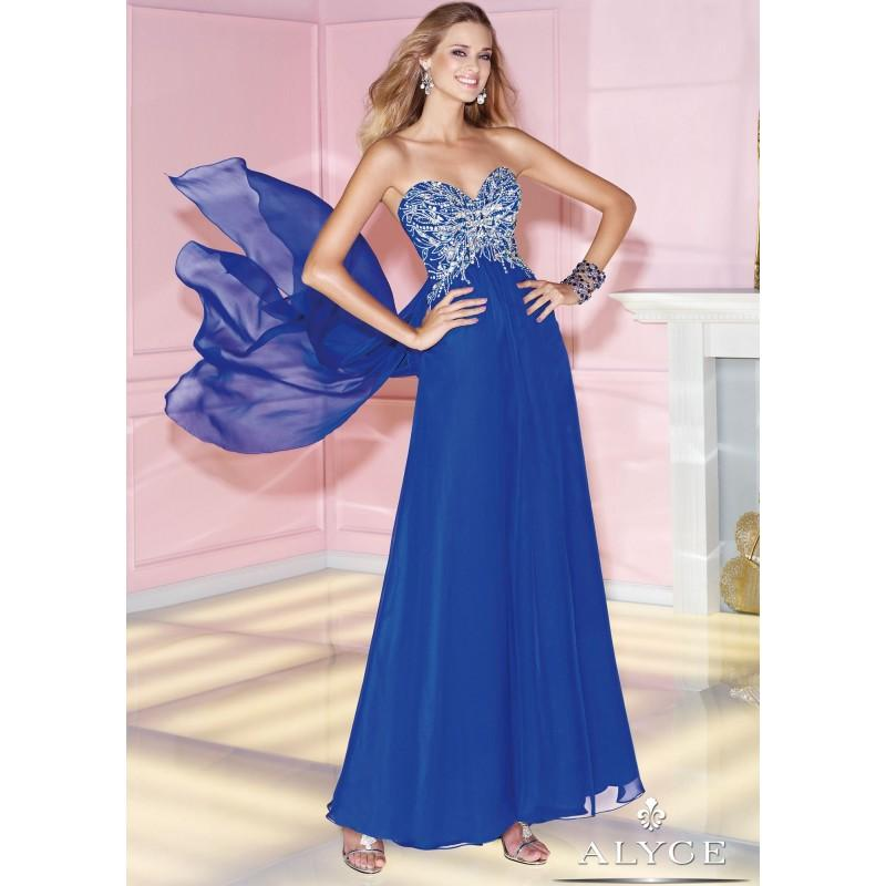 Düğün - Alyce 6266 2 Tone Evening Gown - 2017 Spring Trends Dresses