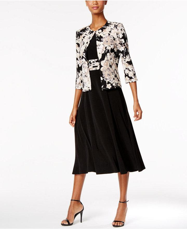 Wedding - Jessica Howard Floral-Print Dress and Jacket